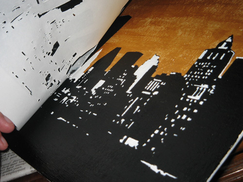 Pulling stencil off