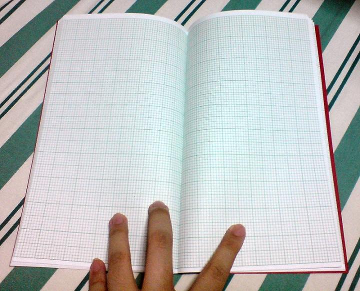 Grid paper inside