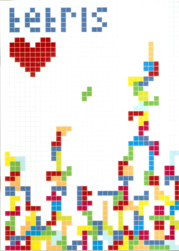 Tetris notebook cover