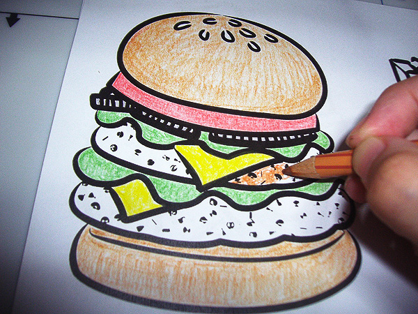 Coloring the Burger in