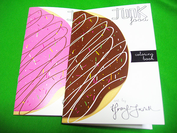Junk Food Actual Coloring Zine