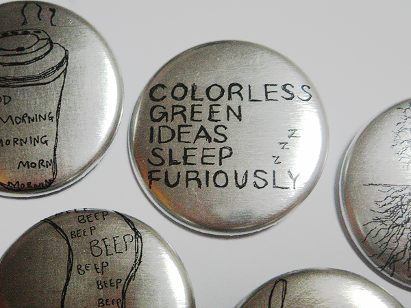 Metal Badges Close-Up