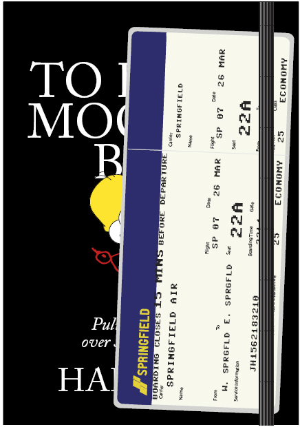 Air Ticket Simpsons Digital Cover